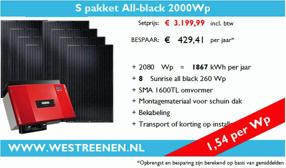 S-Pakket All-Black zonnepanelen