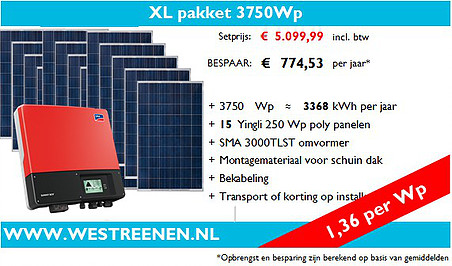XL-Pakket Poly Zonnepanelen